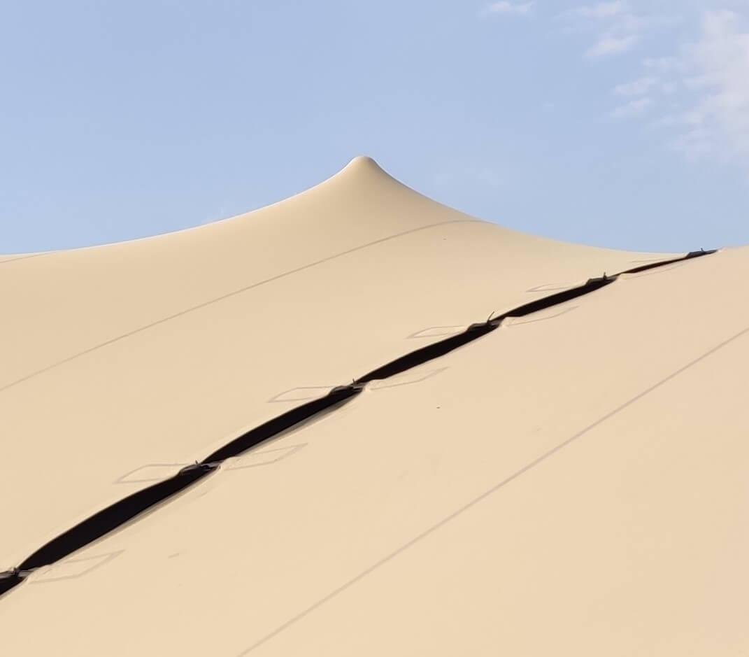 połączone namioty stretch