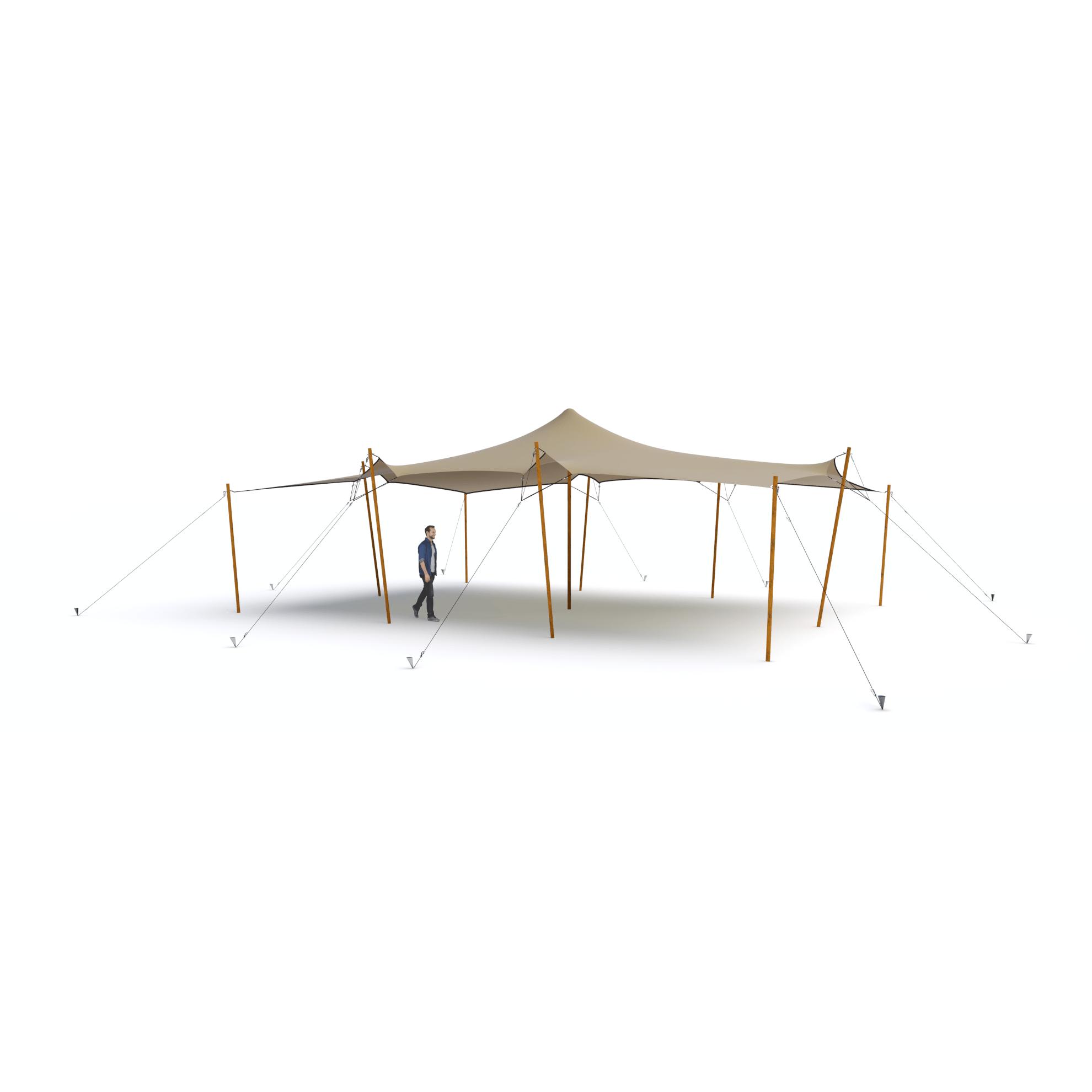 wizualizacja namiotu stretch rozmiar s