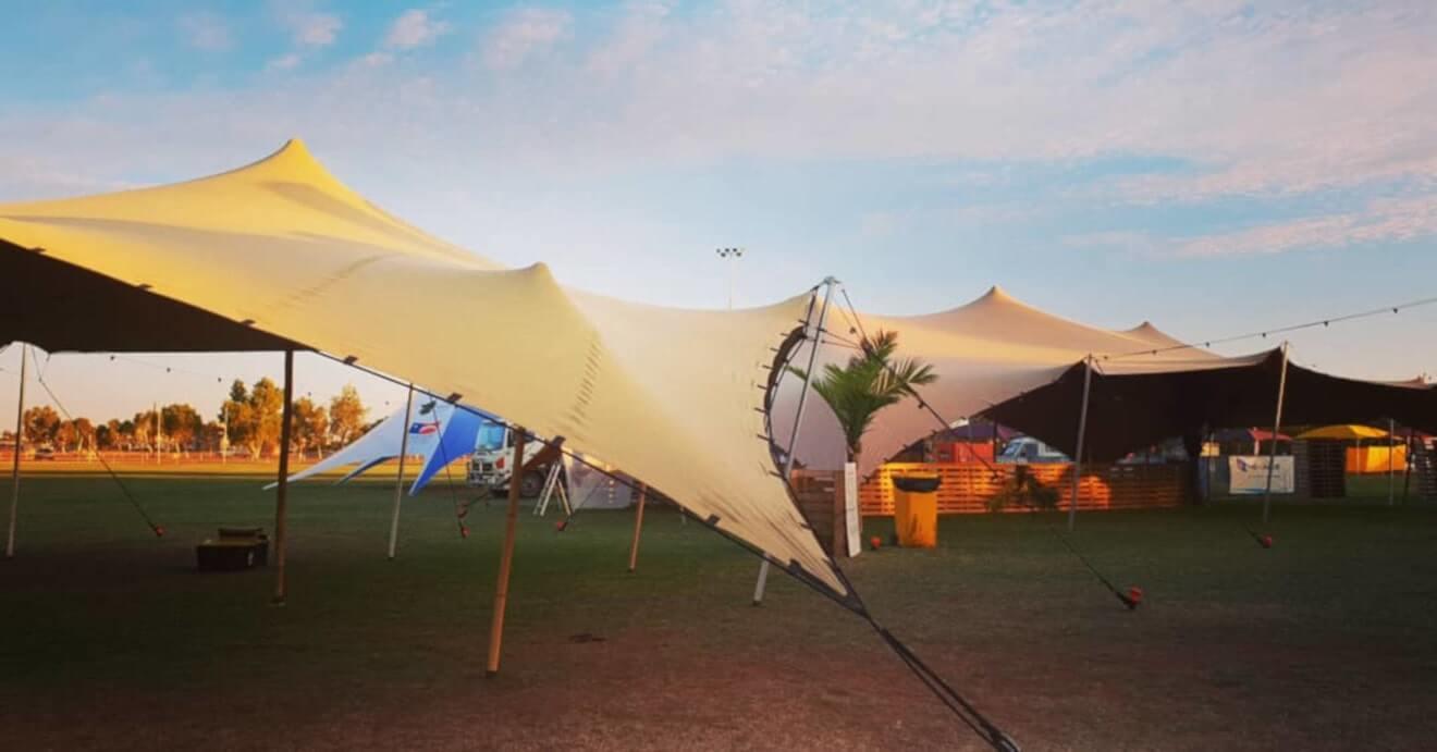 event plenerowy z namiotem stretch tentup