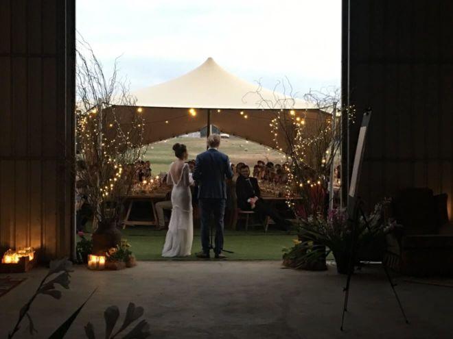 wesele w plenerze pod namiotem stretch
