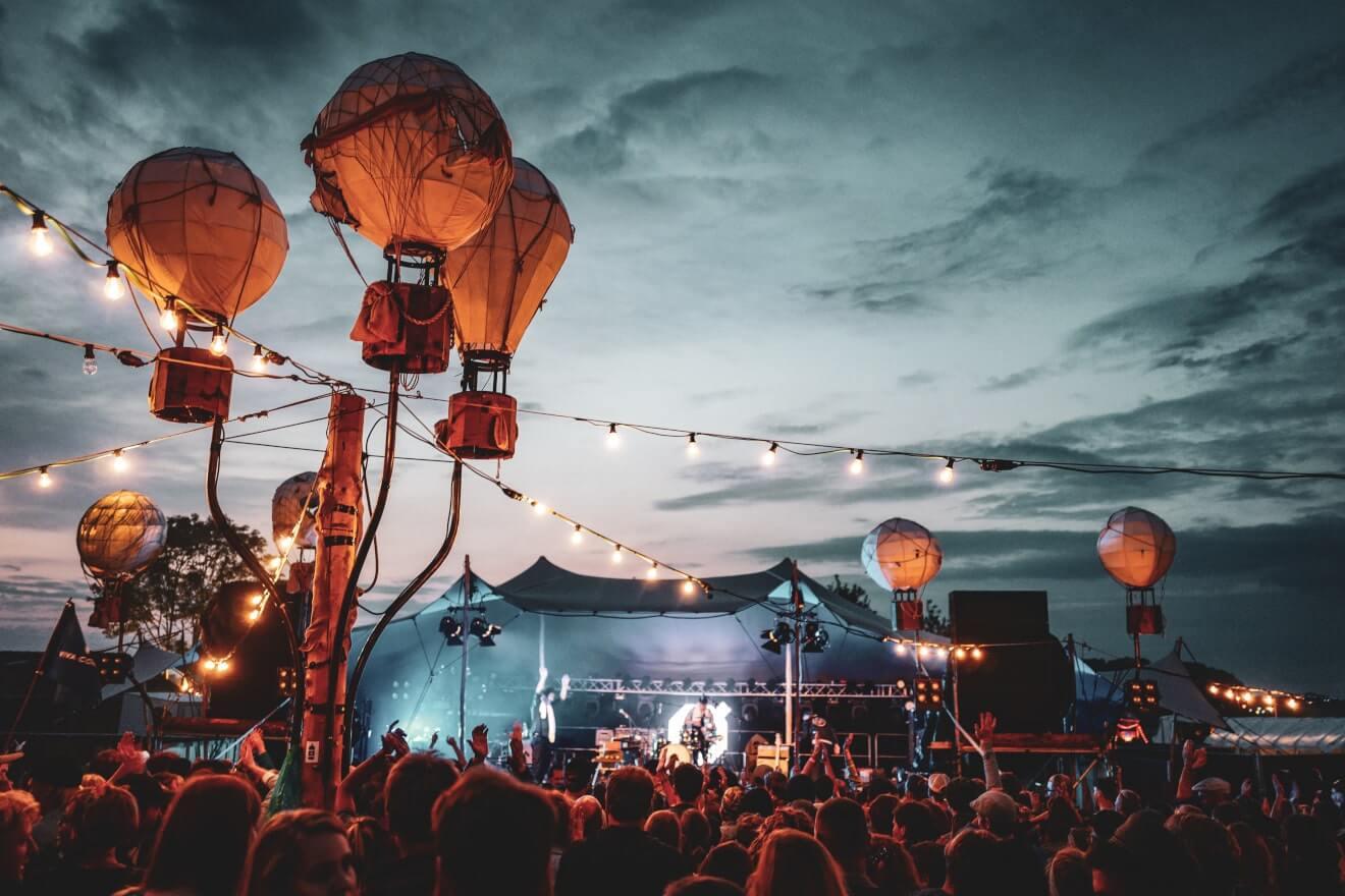 namiot stretch koncert na festiwalu
