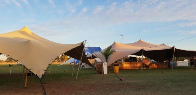 namiot stretch na targi plenerowe