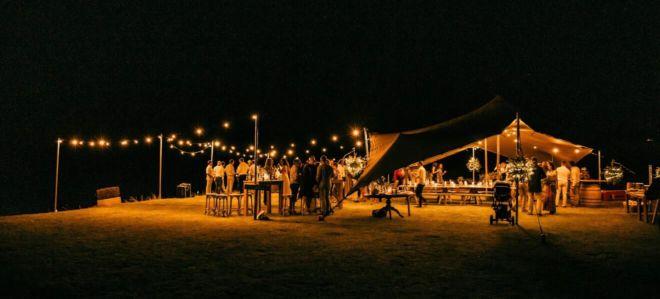 wesele pod namiotem stretch w plenerze